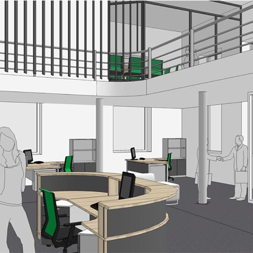 Biuro interjeras | A2X2 ARCHITEKTAI