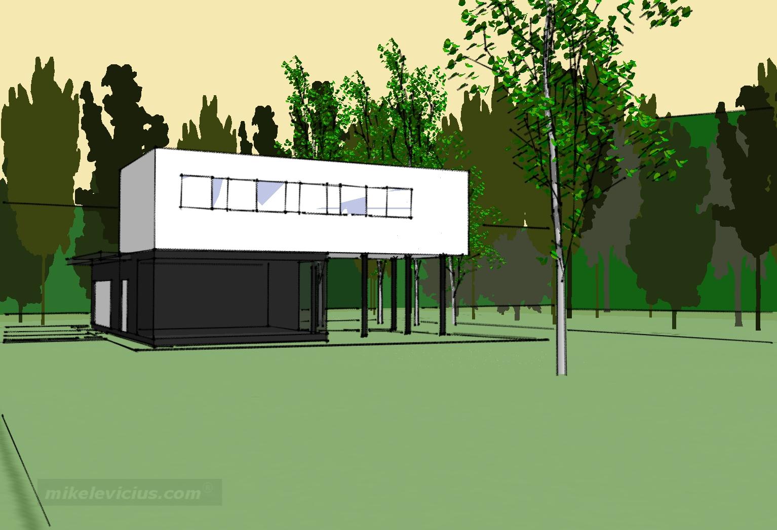 Namas tarp beržų | A2X2 ARCHITEKTAI